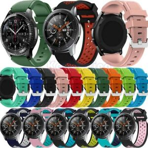 For-Samsung-Galaxy-Watch-46mm-Gear-Sport-S3-S2-Classic-Silicone-Band-Watch-Strap