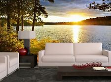 Lake-Sunset Wall Mural Photo Wallpaper GIANT WALL DECOR Paper Poster Free Paste