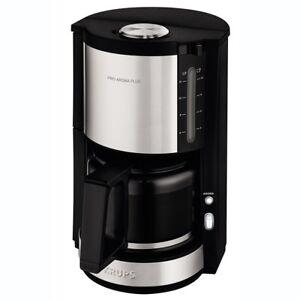 Krups KM 321 Proaroma Plus Filter Coffee Machine 1100w 1,25l Black/Stainless Steel