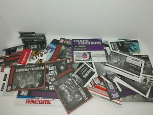 Transformers Instruction Manuals Lot