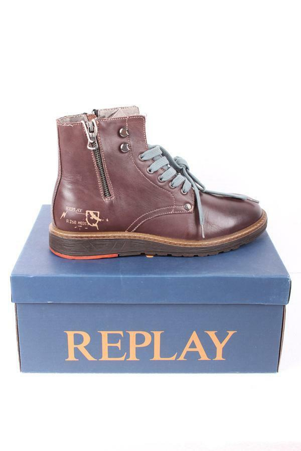 Replay Herrenschuhe Shoes RU05003L Cody Leder