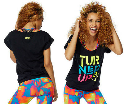 Zumba Turned Up Bubble Tee - Back to Black Z1T01212