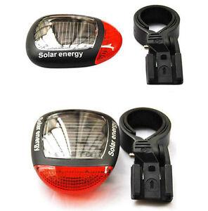 2019 new 2LED Solar Power Bike MTB Rear Tail Red LED Light Lamp Taillight Clamp