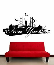 Wall Stickers Vinyl Decal New York Big Apple City USA Decor (z2069)