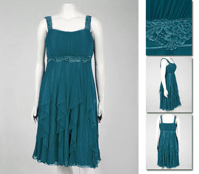 NEW   Zaftique PARTY DRESS Aquamarine 16 20 1Z 2Z     1X 2X