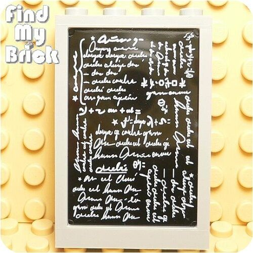 T819 Lego Harry Potter Hogwarts Classroom Chalkboard with Frame from 4721 NEW