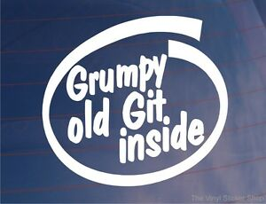 GRUMPY-OLD-GIT-INSIDE-Funny-Novelty-Joke-Car-Van-Window-Bumper-Sticker-Decal