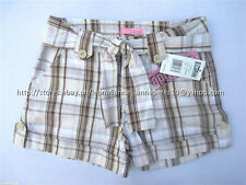 70% OFF! AUTH STAR RIDE GIRL'S BELTED ROLL-UP PLAID SHORTS SIZE 7 BNWT US$ 18