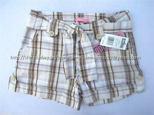 70-OFF-AUTH-STAR-RIDE-GIRL-039-S-BELTED-ROLL-UP-PLAID-SHORTS-SIZE-7-BNWT-US-18