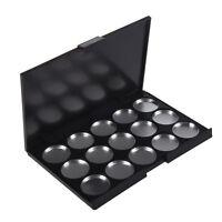 Makeup Empty 15 pcs Aluminum Eyeshadow Pans with Palette QS