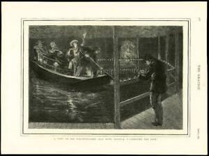 1875-Antique-Print-GERMANY-Bavaria-Berchtesgaden-Salt-Mine-Lake-Boat-130