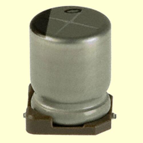 Nichicon SMD POLYMER HYBRID  Kondensator 22uF 63V  80mR  6,3x7,7mm  #BP 10 pcs