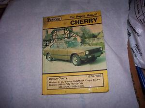 "Autodata Workshop Manual, Datsun Cherry, 1979-1982-82"" Data-mtsrclang=""fr-fr"" Href=""#"" Onclick=""return False;"">afficher Le Titre D'origine Wripffpo-07225437-455445777"
