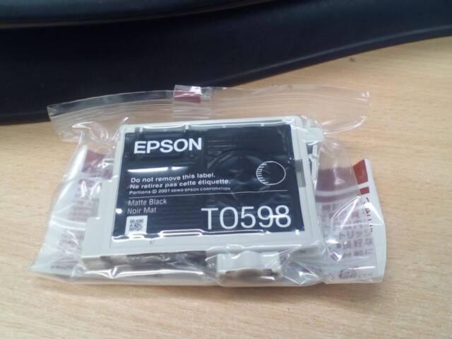 Echt Epson Mattschwarz Original Drucker Tintenpatrone T0598 - Räumung