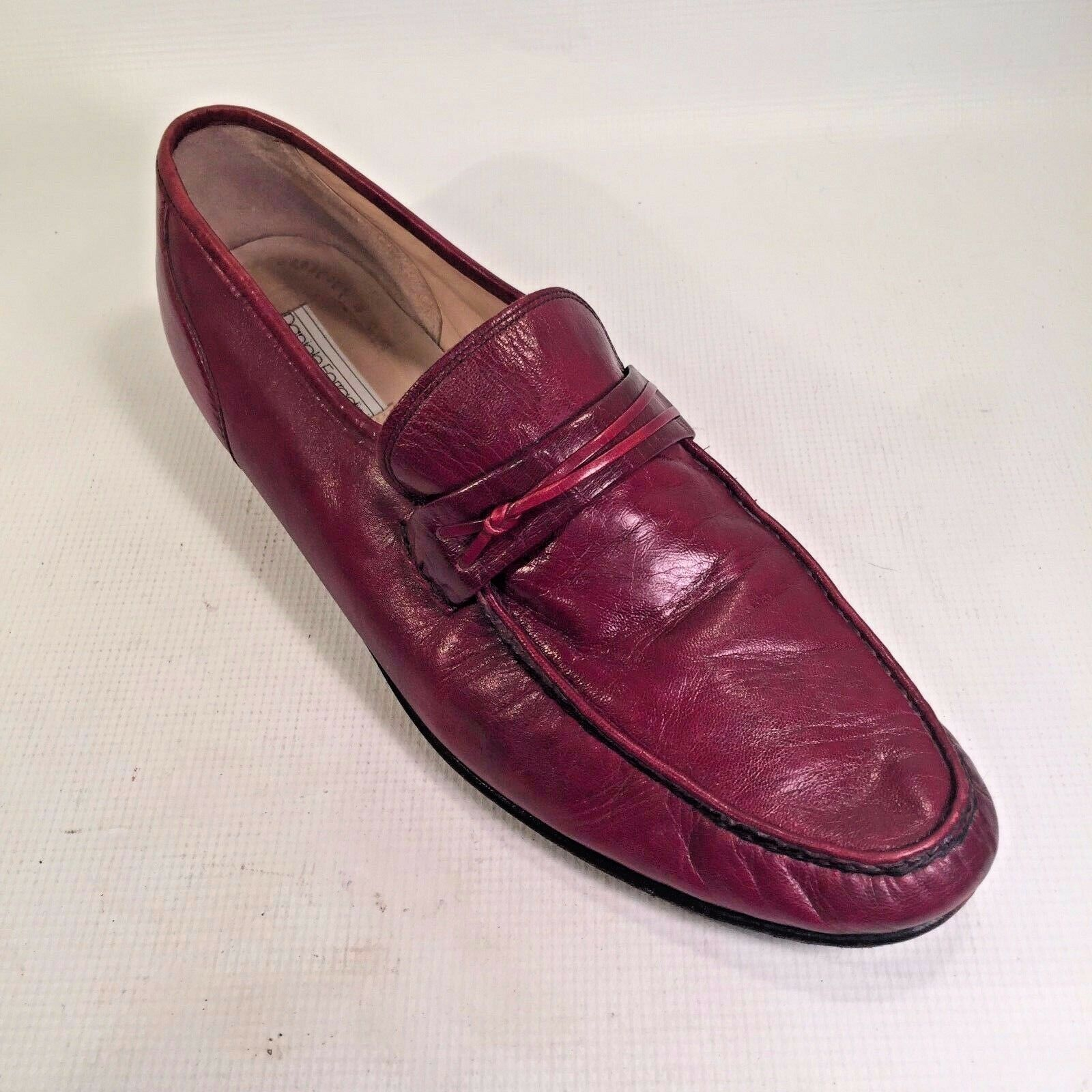 Daniele FERRIDINI ITALY Men's Slip On Casual Career Loafers LEATHER Soles 15 M