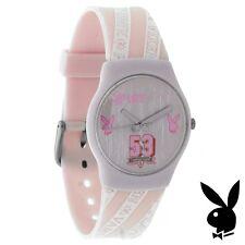 Pink Playboy Watch Bunny Logo VARSITY VIXEN Teens College Girls Women RARE HTF
