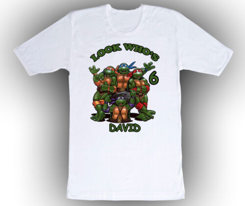 Teenage Mutant Ninja Turtles Personalized Birthday Shirt in 8 Different Colors