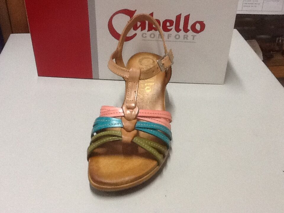 ladies sandal Cabello multi 584 natural multi Cabello size 40/9 360c38