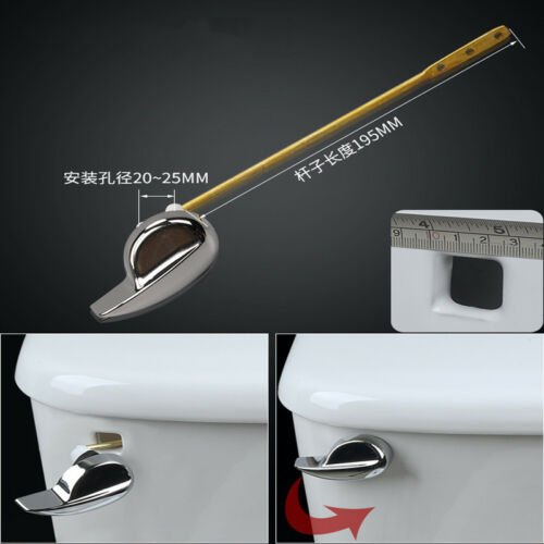 Toilet Cistern Flush Handle Lever Chrome Plated with Syphon Lift Arm Replacement