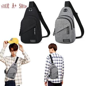 Men Women Sling Bag Chest Fanny Packs Cross Body Travel Shoulder Backpack NEW