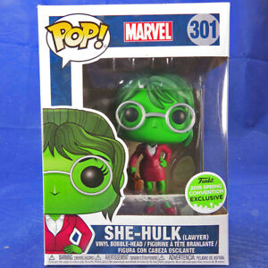 Details About Funko Pop Vinyl Bobblehead Marvel Comics 301 She Hulk As Lawyer Eccc 2018