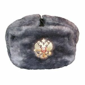 russe chapka ushanka ouchanka chapeau sovi tique russie arm e gris aigle ebay. Black Bedroom Furniture Sets. Home Design Ideas