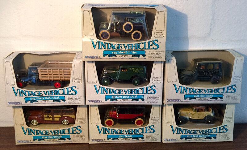 Lote de 7 vehículos Ertl Vintage, Diecast Escala 1 43, Nuevo En Caja