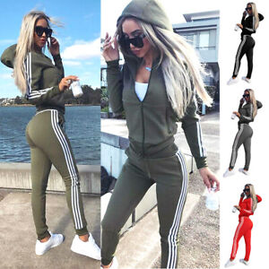 Damen Trainingsanzug Hausanzug Hoodie Sweatshirt Hose Jogginganzug Sport