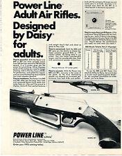 1975 Print Ad of Daisy Power Line Adult Air Rifle Model 881 & 880 BB Pellet Gun
