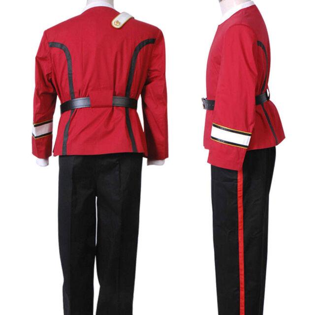 Star Trek II-VI Wrath of Khan Starfleet Uniform Outfit Halloween Cosplay Costume