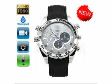 1920*1080P HD Waterproof Watch Camera with IR Night Vision Hidden Cam 8GB DP