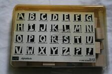 Lot of boxed wooden rubber stamps alphabet letters school scrapbooking