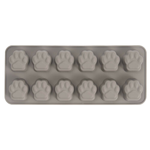 New Silicone Pawprint Ice Cube Tray 26.2 x 11 x 2.5cm Makes 12 ice cubes 150417
