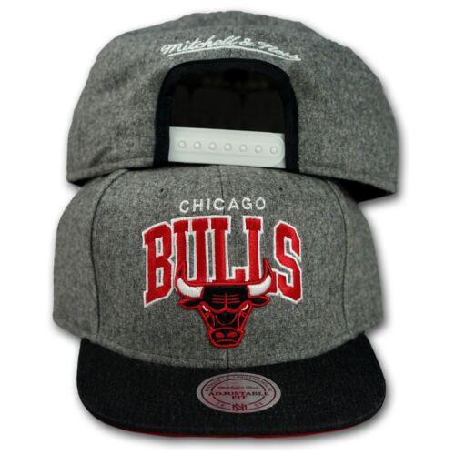 ORIGINALE Mitchell /& Ness Chicago Bulls Snapback Cap 2 HTHR Grigio NBA