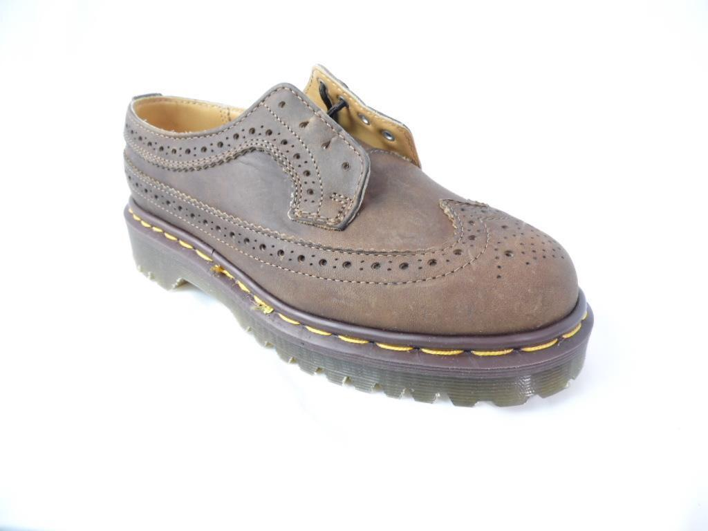 DR MARTENS 3989 AZTEC WINGTIP BROWN CRAZY HORSE BROGUE MIE UK MADE NOS NWOB