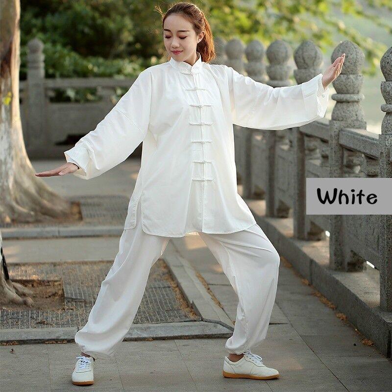 Lady Cotton Silk Kung Fun Suit Stretch Breathable Taiji Uniforms Wushu Wear Sets