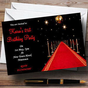Image Is Loading Red Carpet Vip Personalised Party Invitations