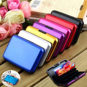 Details Zu Alu Aluminium Kreditkarten Karte Etui Box Credit Card Visitenkarten Pocket Case