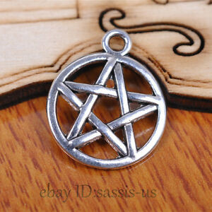 30-pieces-20mm-Charms-demon-Star-Logo-pendant-Tibetan-Silver-DIY-Jewelry-A7083