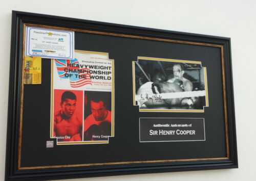 Rare Henry Cooper Signed Photo Autograph Picture