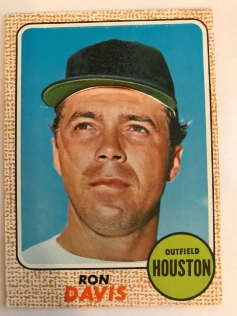 Details About 1968 Topps Baseball Card 21 Ron Davis Houston Astros Vgex