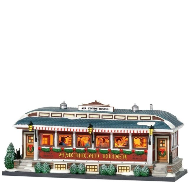 American Diner 799939 Dept 56 Christmas In The City Snow Village restaurant A