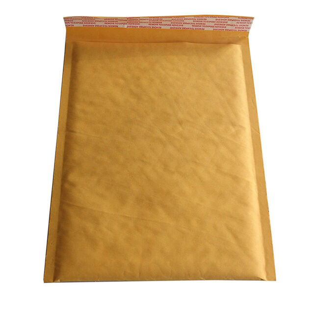 1X 200*250+40mm Kraft Bubble Bag Padded Envelopes Mailers   Yellow Bags NT