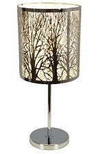 Tischleuchte Tischlampe Nachtkommode Lampe Chrom Leuchte Design LED möglich