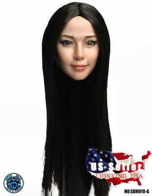 SUPERDUCK 1//6 female head long black hair SDH010 A for Phicen Suntan ❶USA❶
