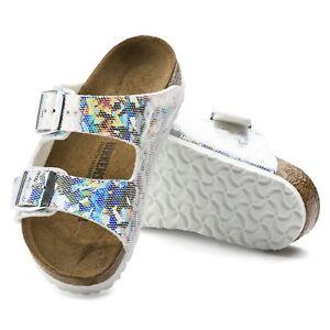 Birkenstock Arizona Sandali NORMALE Ologramma argento argento sandali 1008096