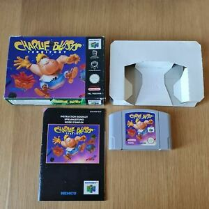 CHARLIE BLASTS TERRITORY NINTENDO 64 N64 PAL GAME BOXED COMPLETE WITH MANUAL
