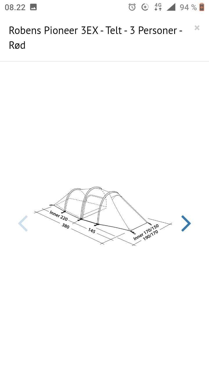 Robens Pioneer 3EX 3 personers telt – dba.dk – Køb og Salg