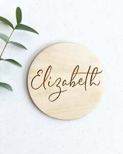 Wooden Name Sign Newborn Photo Prop Engraved Baby Name Sign Name Announcement Plaque Nursery Decor Personalized Baby Name Plaque