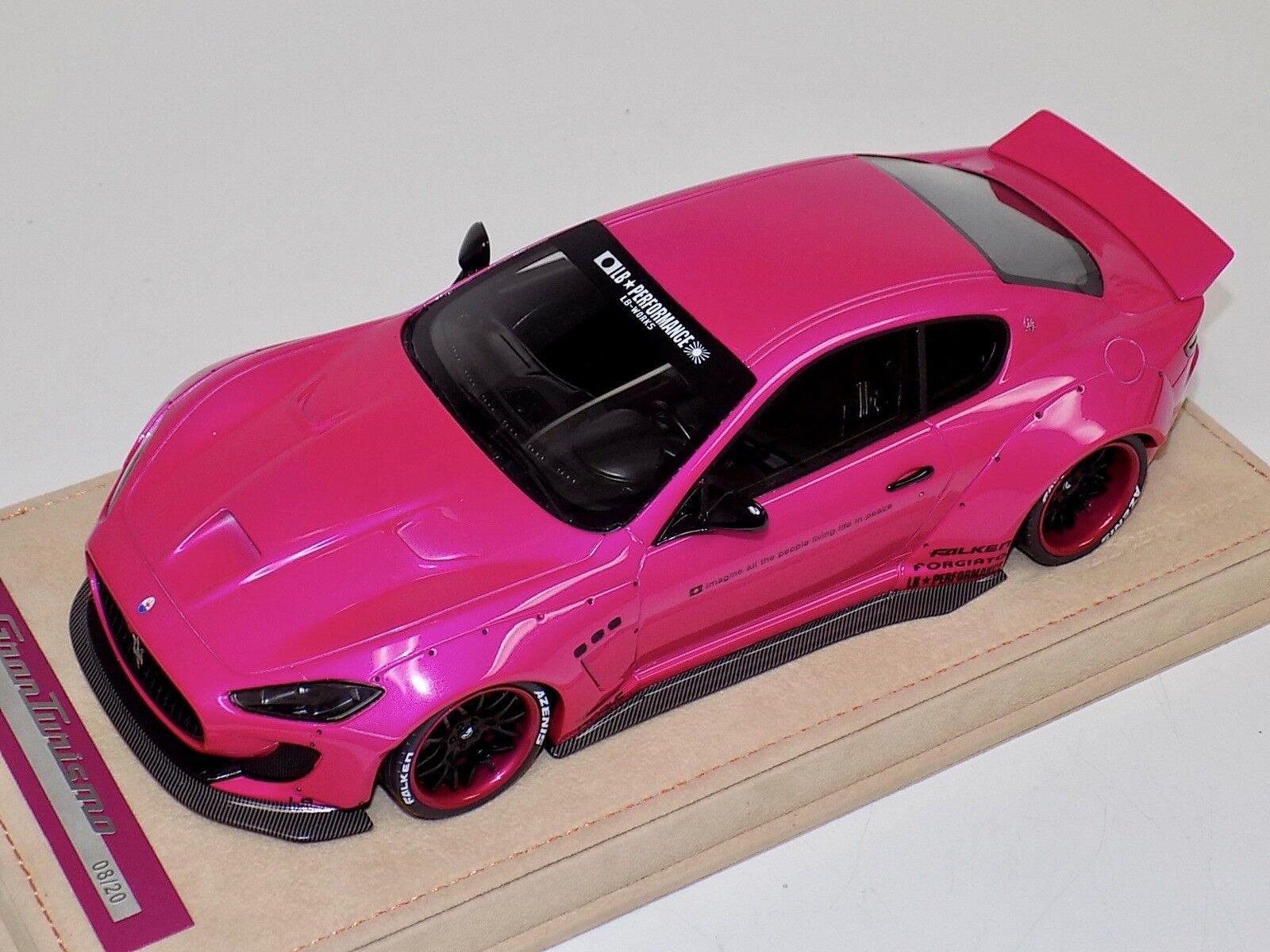1 18 AB Models Maserati Granturismo Liberty walk Flash Pink Wheels Alcantara